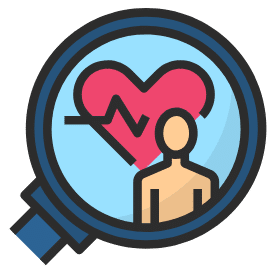 Healthy heart graphic icon