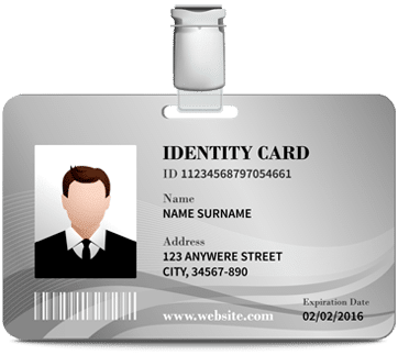 Identification Card Graphic icon